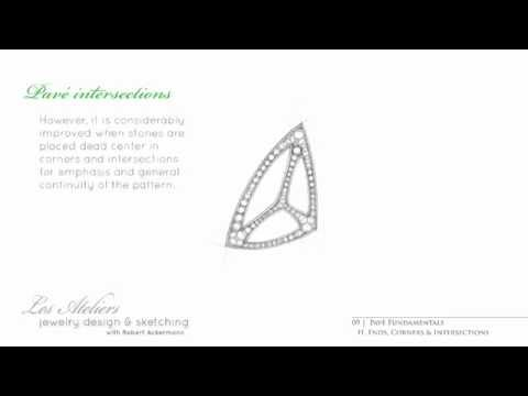 Jewelry Design & Sketching—Preview Video Lecture 9, Segments A&H—Pavé Fundamentals