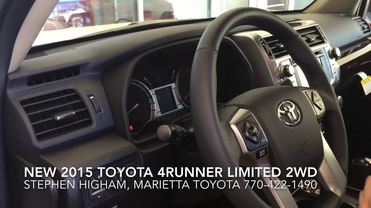interior features of the new 2015 toyota 4runner limited