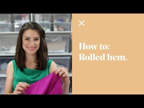 How To: Rolled Hem Tutorial