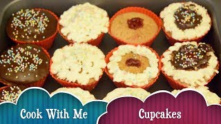 Easy #cupcake recipe   fluffy soft creamy choclate colorful cupcakes