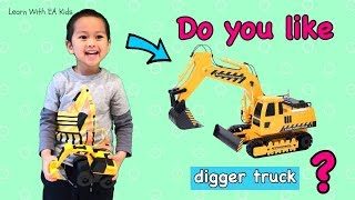 Do You Like Digger Truck?? Learn Simple English Songs for kids!!
