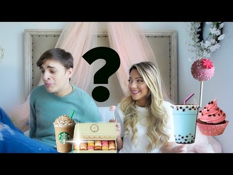 My bf taste tests Girly Drinks and Treats