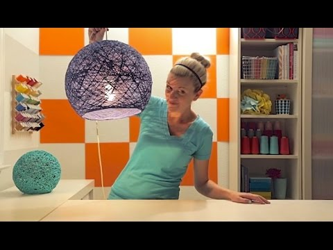 Papercraft How to make a lampshade, lanterns, and yarn globes