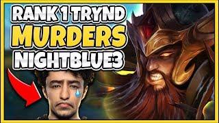#1 TRYNDAMERE WORLD DESTROYS NIGHTBLUE3 (HUMILIATION) - League of Legends