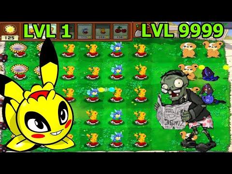 Plants vs. Zombies POKEMON Tiến Hóa Pikachu Bắn 2 Cầu Điện Hoa Quả Nổi Giận - Top Game Android Ios |
