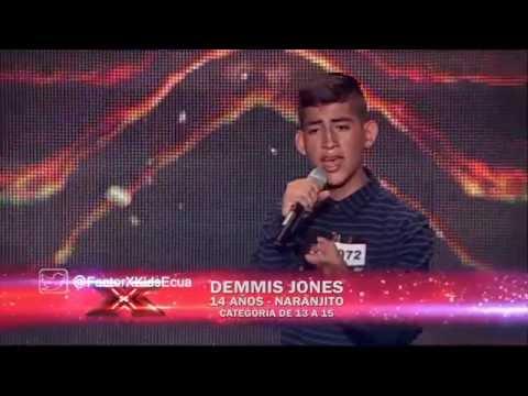 Demmis Jones - A Prueba De Todo | (Programa 4) Casting Factor X Kids Ecuador 2015