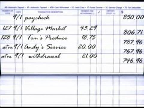 how to balance a checkbook how to balance an account register