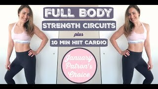 4 X 10 Circuit // Strength Training + 10 min HIIT Cardio