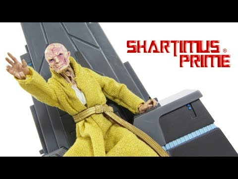 Star Wars The Last Jedi Supreme Leader Snoke with Throne GameStop Exclusive Hasbro Figure Toy Review