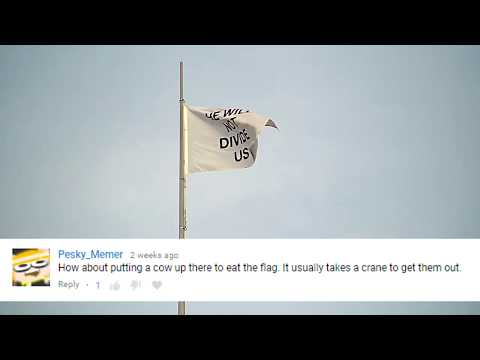 He Will Not Divide Us Flag Still Stands in France