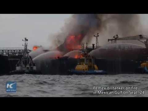 Fire breaks out on Mexican oil tanker, forcing evacuation