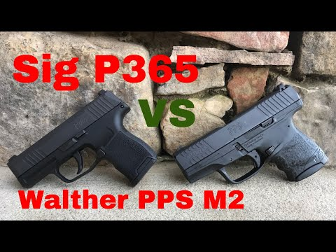 Sig P365 vs Walther PPS M2 Size and Trigger Comparision