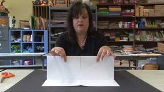 How to make a sketchbook from one sheet of paper