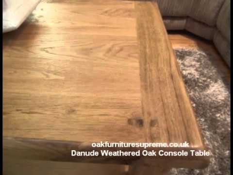 Danube Weathered Solid Oak Rectangular Coffee Table