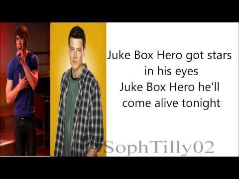 Glee - Juke Box Hero (Lyrics)