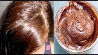 👩💜Consigue fácilmente un tinte casero marrón chocolate brillante con una cobertura perfecta 100%