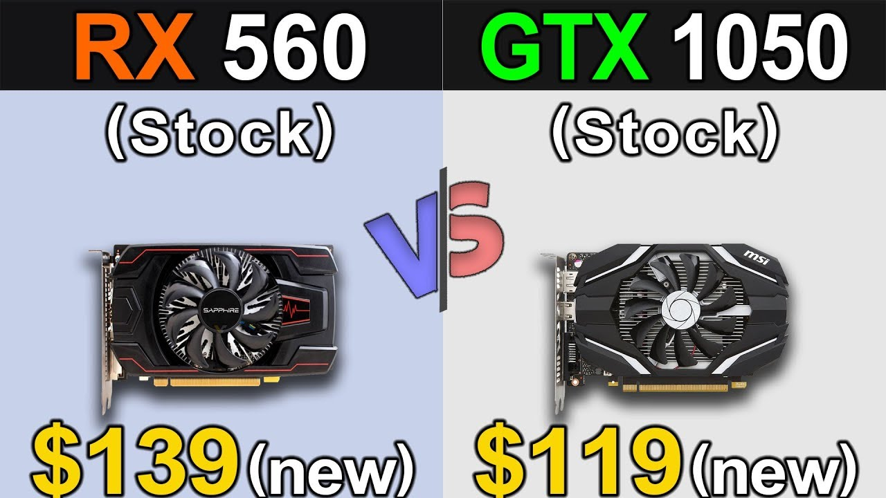 RX 560 (4GB) Vs  GTX 1050 (2GB) | New Games Benchmarks | Latest Drivers  Updates