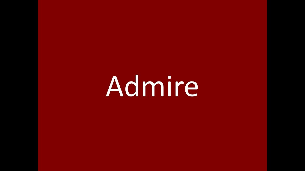 admire meaning definition pronunciation example synonym antonyms