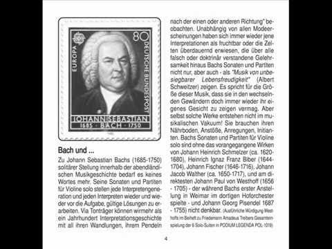Jenny Abel: Johann Sebastian Bach Solo Sonate Nr 1 WOW 001