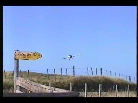 FALCON AVIATIONs Peter Irvine with his Agwagon CSD at Long Bay Airstrip, Banks Peninsula