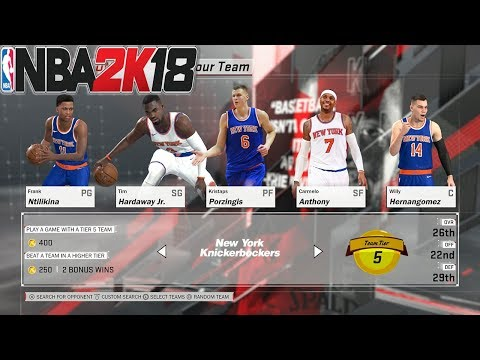 NBA 2K18 - KNICKS DOING WORK - PLAY NOW ONLINE - #KEEPSIMALIVE
