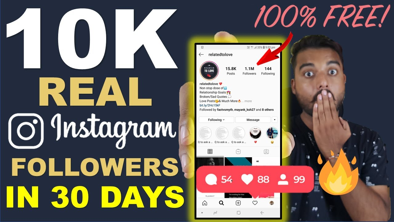 Instagram Par REAL FOLLOWERS Kaise Badhaye - How to Increase FREE Instagram  Followers