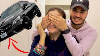 My MOM reacting to my BRAND NEW CAR! *mercedes*
