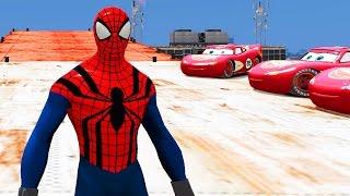 Человек Паук Спайдермен сбрасывает вертолет с крыши небоскреба и едет на машине Молния Маквин Тачки(Человек Паук Спайдермен сбрасывает вертолет с крыши небоскреба и едет на машине Молния Маквин Тачки мульти..., 2016-05-02T14:57:43.000Z)