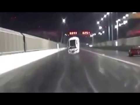 FAIL! Car takes off of the ground during a drag race!