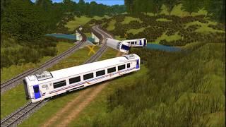 Kompilasi Kereta Api Menabrak Gundukan Tanah-Trainz Simulator