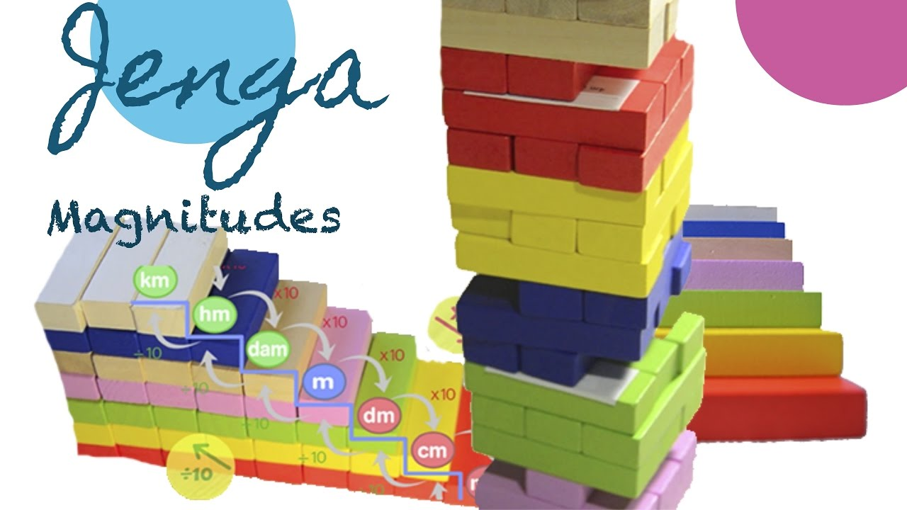 Jenga Version Juego Educativo Magnitudes Youtube