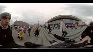 Супер флешмоб у БКЗ Октябрьский Панорамная съемка 15.03.2016