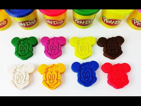 Thumbnail: Learn colors with Play Doh Mickey and Minnie Mouse Superhero Minions Surprise Toys for Kids