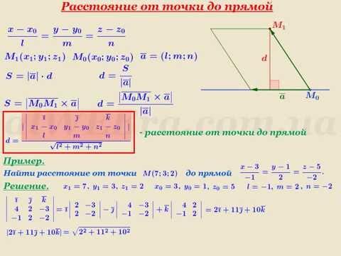 Как найти расстояние от точки до прямой в пространстве