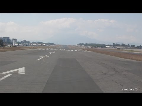 Mechanical Problems, Takeoff, Landing Flight.  Guatemala Airport to DFW, American Boeing 737 - 800
