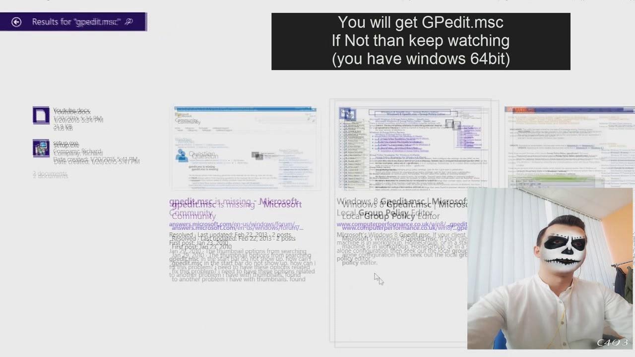 gpedit.msc not found windows 8.1
