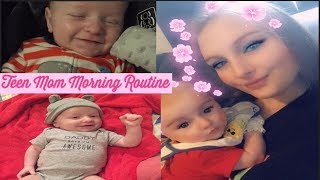 TEEN MOM MORNING ROUTINE! ☀️👶🏼