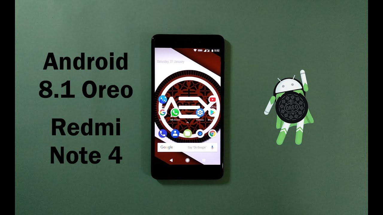 Android 8 1 Oreo AOSP Extended Official Rom For Xiaomi Redmi Note 4