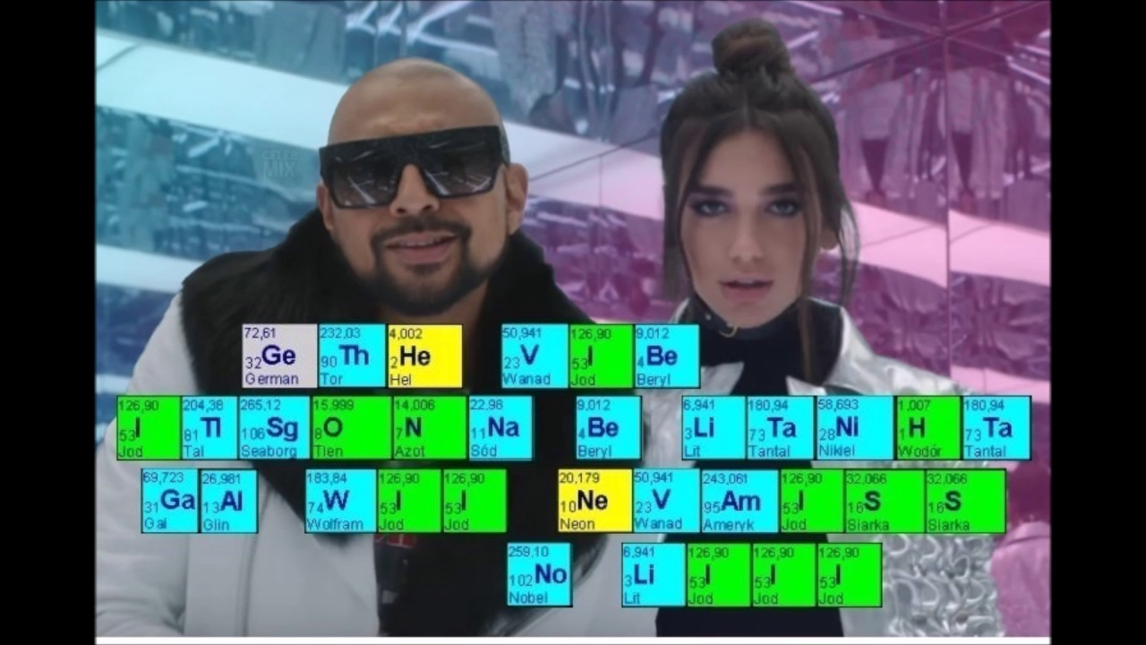 Periodic table pl no lie sean paul ft dua lipa youtube periodic table pl no lie sean paul ft dua lipa gamestrikefo Images