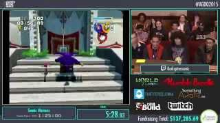 Sonic Heroes (GC): AGDQ 2015 - Team Rose Speed Run in 43:51 + Glitch Exhibition