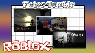 CREATING TUMBLR PHOTOS ON ROBLOX.