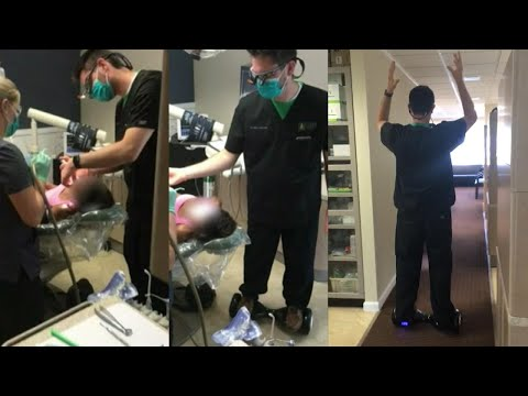Jo Jo - This Dentist Has Hover Board Skills While Pulling Tooth!