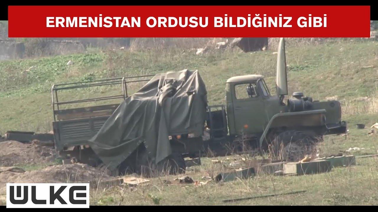 Ermenistan ordusu tank ve askeri araçlarını bırakarak kaçtı