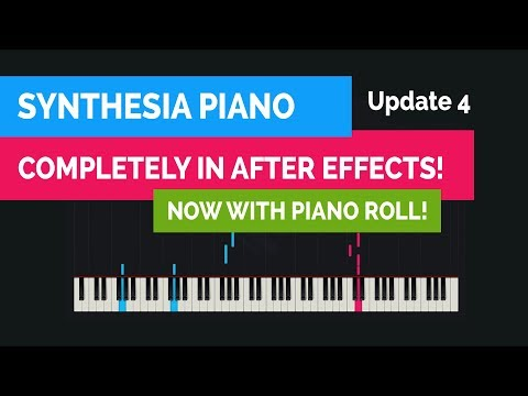 Synthesia piano built in After Effects - Plays MIDI files