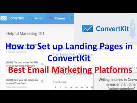 How to Set up Landing Pages in ConvertKit | Best Email Marketing Platforms | Convertkit vs Aweber