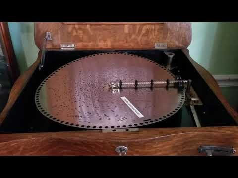 "Regina 15.5"" Music Box plays Disc 1521, ""The Stars and Stripes Forever."""