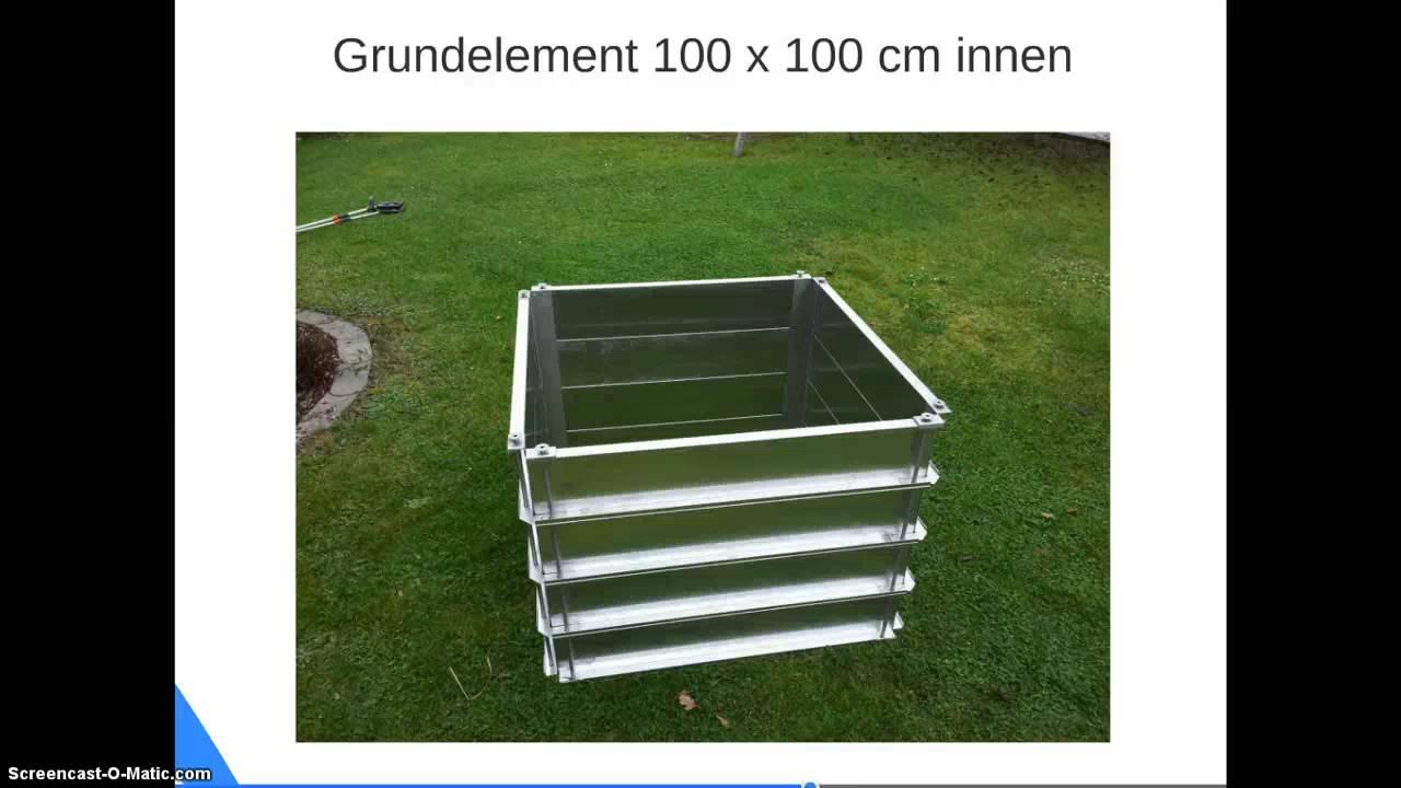 Metall Hochbeet Aus Aluminium Www Haus Gartenwelt Com Youtube