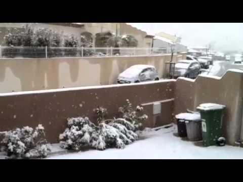 Il neige à Béziers !