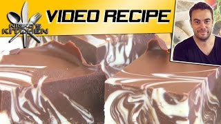 Double Chocolate Fudge (3 Ingredients)