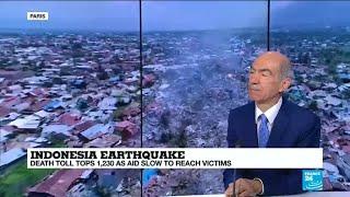 Damage from Indonesia quake and tsunami